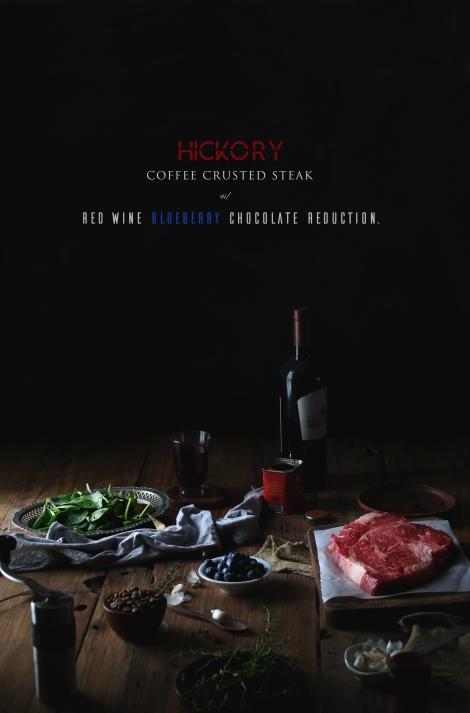 Hickory Coffee Crusted Steak